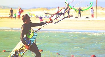 A person kiteboarding.