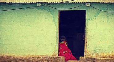 A local resident in a village in Ecuador.