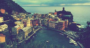 Overlooking Vernazza in the Cinque Terre in Italy