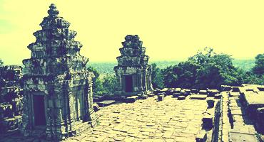 The ruins of Ankor Wat in Cambodia