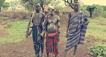 Local tribe members of Ethiopia