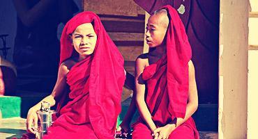 Monk boys in Myanmar.