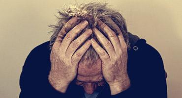 A man having a depression