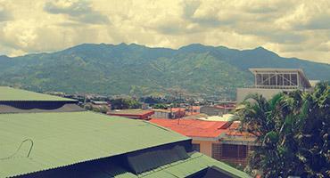 The view from a top floor of Universidad Veritas in San José, Costa Rica
