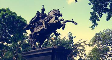 a statue of a soldier riding a horse