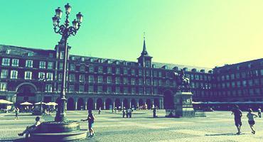 Plaza in Madrid, Spain