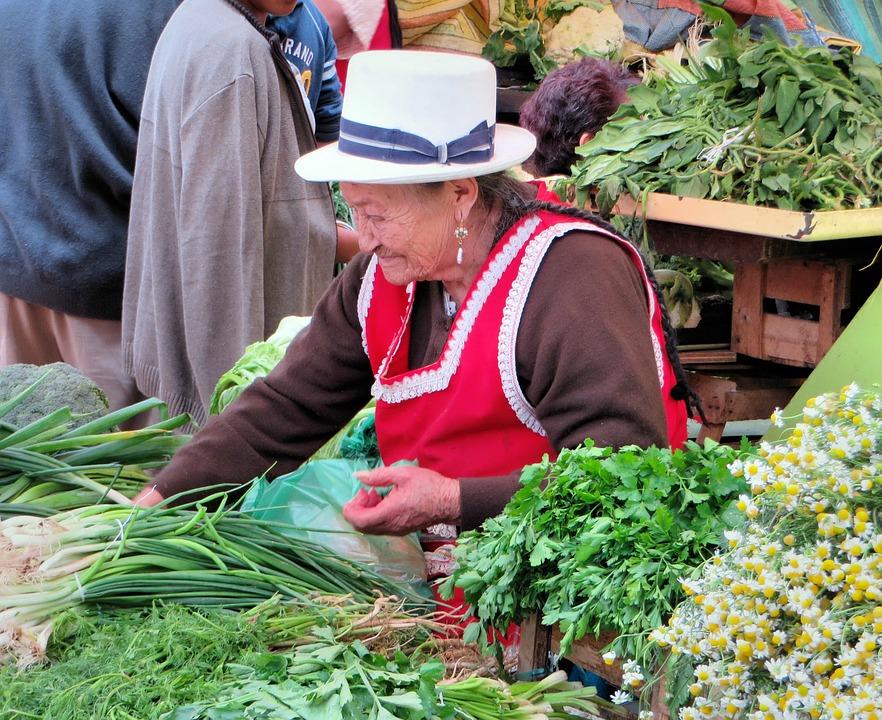 ecuadorian woman at the market
