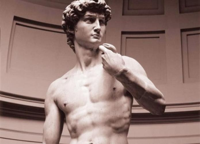 David, a masterpiece of Renaissance sculpture, created by the Italian artist Michelangelo. Photo by WSA