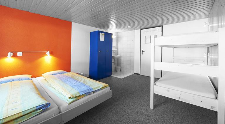 Hostel room abroad