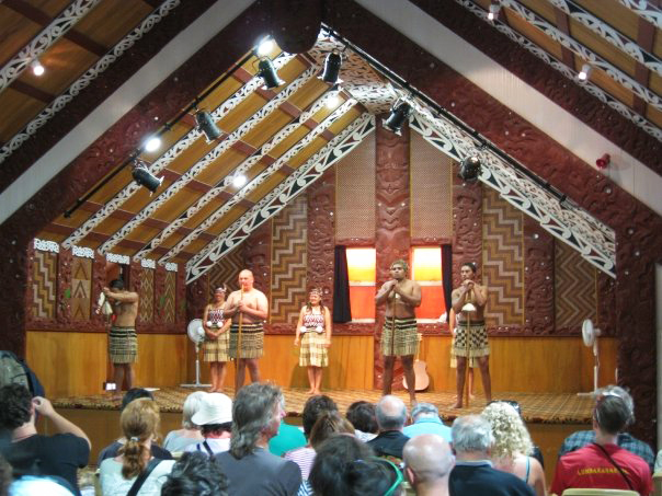 New Zealand Māori welcoming the guests
