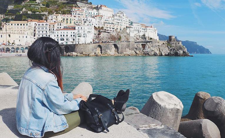 Woman inAmalfi Coast, Italy