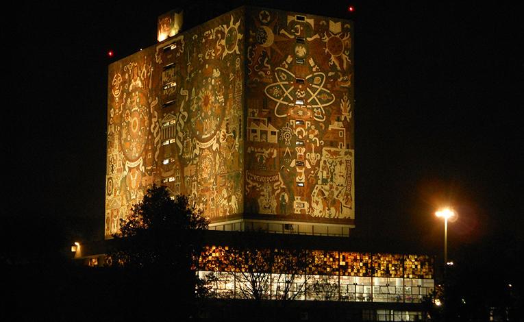 Building at Universidad Nacional Autónoma de México in Mexico