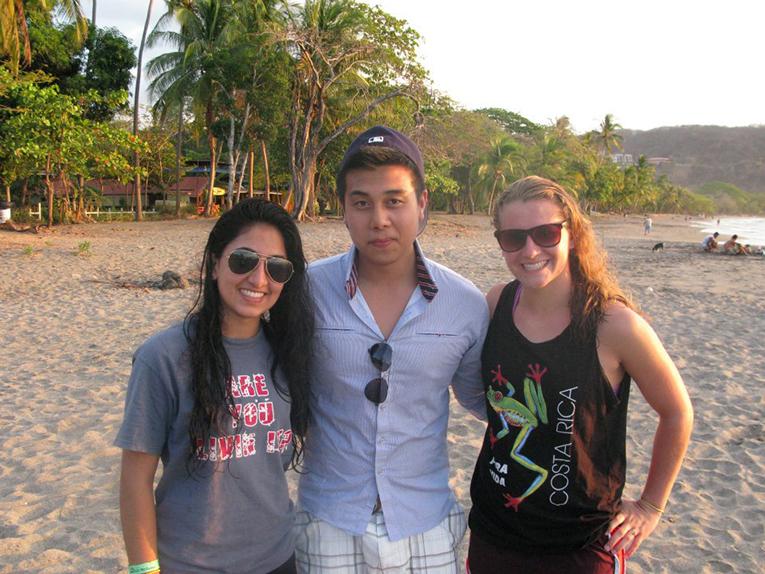 On the beach in Costa Rica