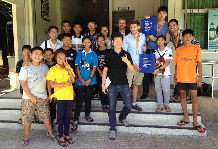 Volunteers in Bangkok, Thailand