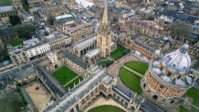 Oxford, England, from above
