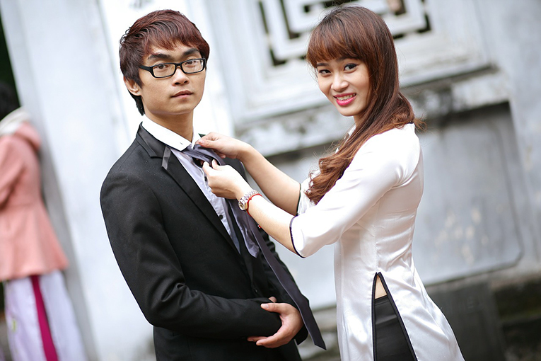 Japanese man and woman