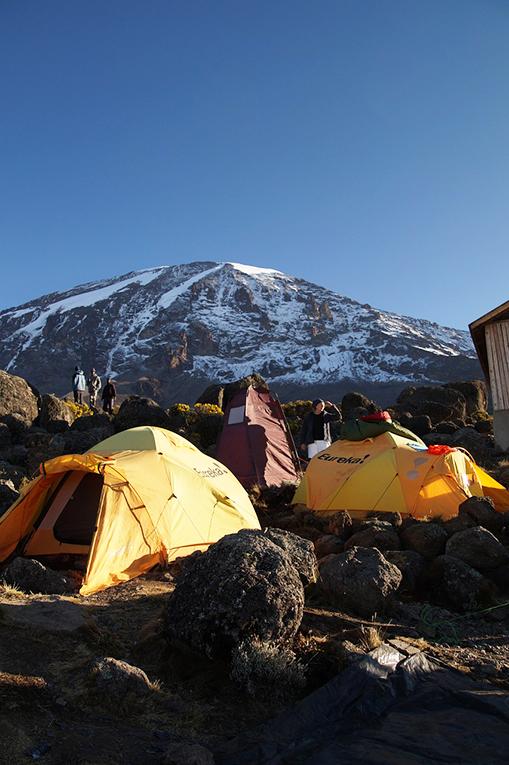 Tents near Mount Kilimanjaro