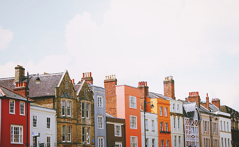 Row houses in Oxford