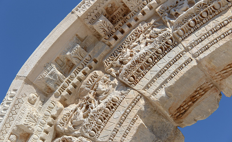 antiquity in Turkey, large stone arch.