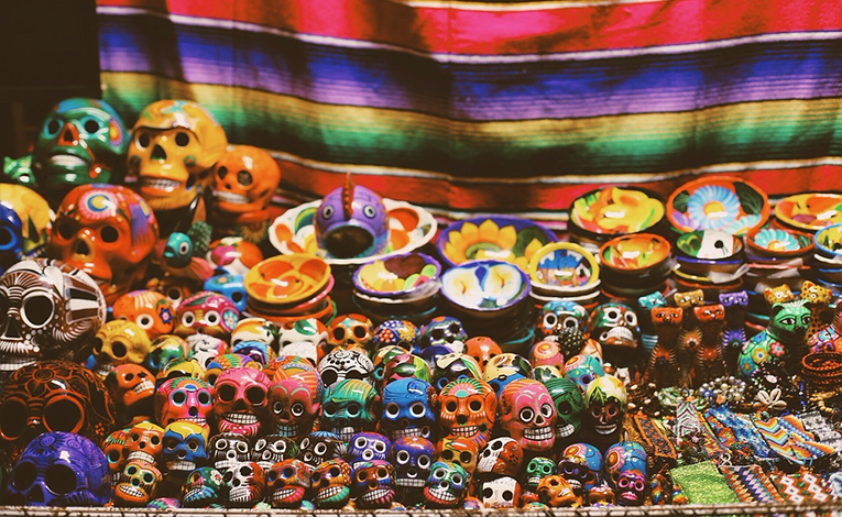 Skull figures, Day Of The Dead Mexico