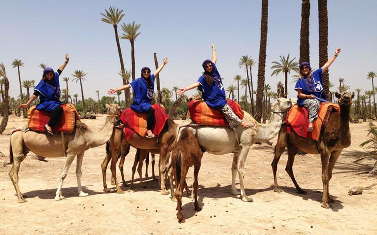 Camel back riding in theMoroccandesert!
