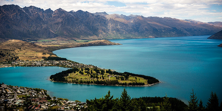 Lake in Queenstown, New Zealand