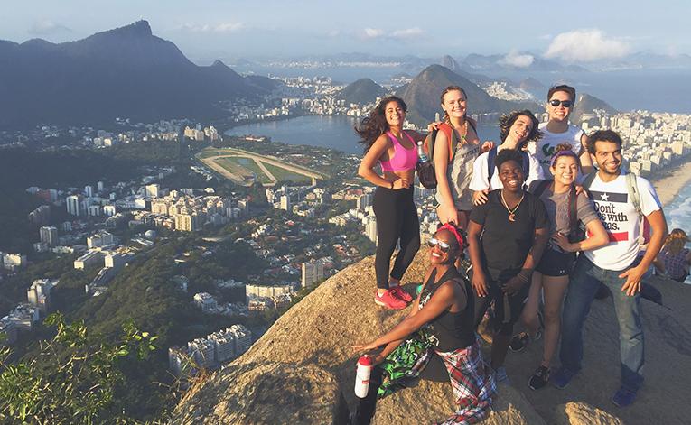 Study abroad students in Rio de Janeiro, Brazil