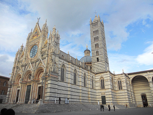 The Duomo in Siena is one of the most impressive buildings youll find.
