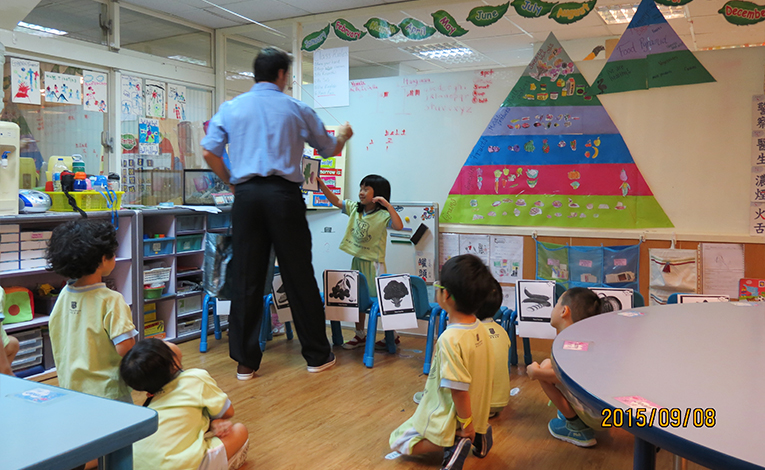 Teacher instructing students in Taiwan