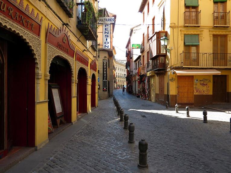 Quiet streets of Granada, Spain