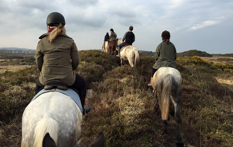 Trekking through Connemara's country side on horseback
