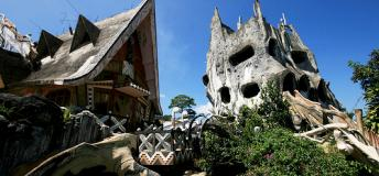 The Crazy House or Hang Nga Guest House in Dalat, seems more like a scene from a whimsical, dark fairy tale than an attraction in Vietnam.