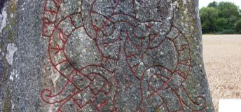 The ancient runestones north of Stockholm tell stories of men and honor to the old Viking gods.