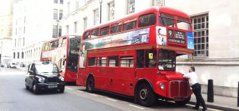 The famous double decker bus in London.