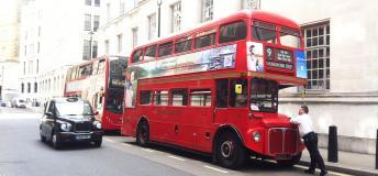 The famous double decker bus in London.