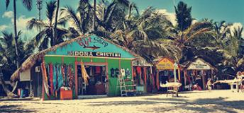 Gift shops on the beach.