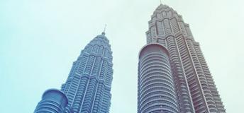 The Twin Towers in Kuala Lumpur, Malaysia