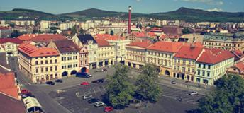 Plaza in Czech Republic