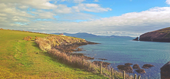 Along the coastline of Ireland.