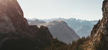 Snowy landscape in Switzerland