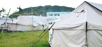 Tents for disaster victims
