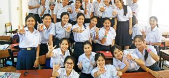 Some of Eric Vukicevich's students in Thailand.