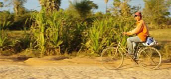 A local on his bike ride in Cambodia