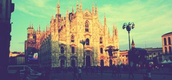 The cathedral church of Milan, Italy