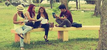 Students studying at the University of the Philippines