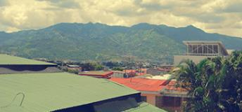 The view from a top floor of Universidad Veritas in San José, Costa Rica