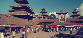 Pagoda in Kathmandu, Nepal.