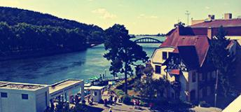 Piestany, Slovakia on the River Vah