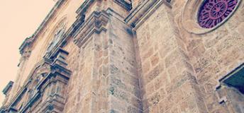 Church facade in Colombia