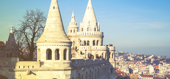 The Fisherman's Bastion at Budapest, Hungary.